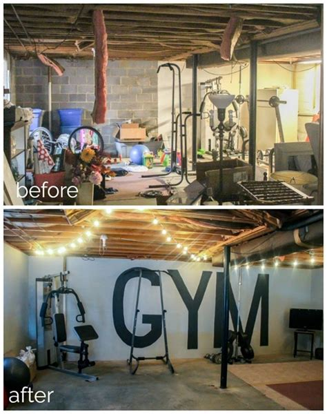 Unfinished Basement To Industrial Home Gym On A $100