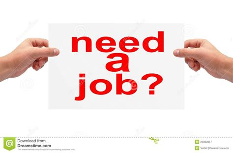 Need A Job Concept Royalty Free Stock Photography - Image ...