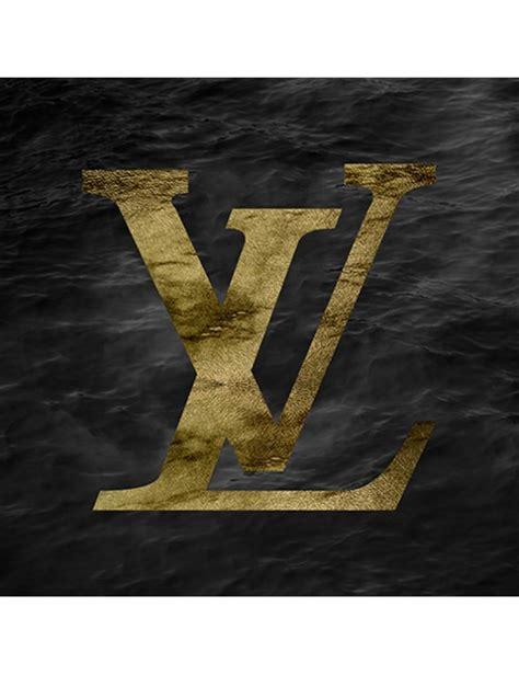 lv gold logo package art