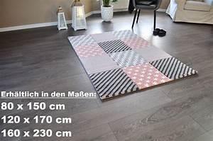 Teppich 140 X 160 : hochwertiger design teppich relief tf 21 rosa grau wei sterne 160 x 230 teppiche design trend ~ Bigdaddyawards.com Haus und Dekorationen