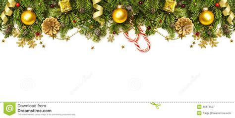 christmas decorations border isolated  white background
