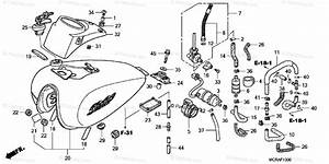 Honda Motorcycle 2007 Oem Parts Diagram For Fuel Tank