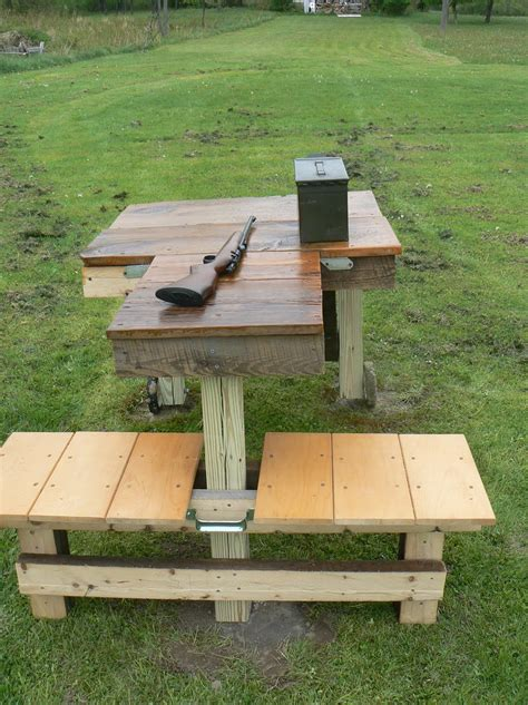 wood shooting bench plans home design ideas
