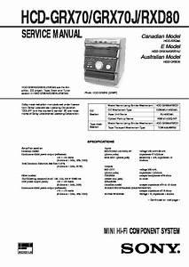 Sony Mhc-grx7  Mhc-grx7j  Mhc-r700  Mhc-rx77  Mhc-rx77s Service Manual