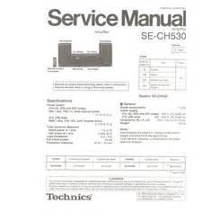 Visonik Wiring Diagram by Se Ch530 Technics Service Manual Highqualitymanuals