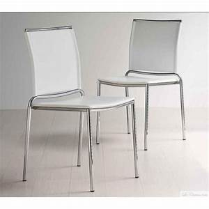 Chaises De Cuisine Modernes : chaise blanche moderne fly et chaises moderne midj chaises marseille paris toulouse lyon ~ Teatrodelosmanantiales.com Idées de Décoration