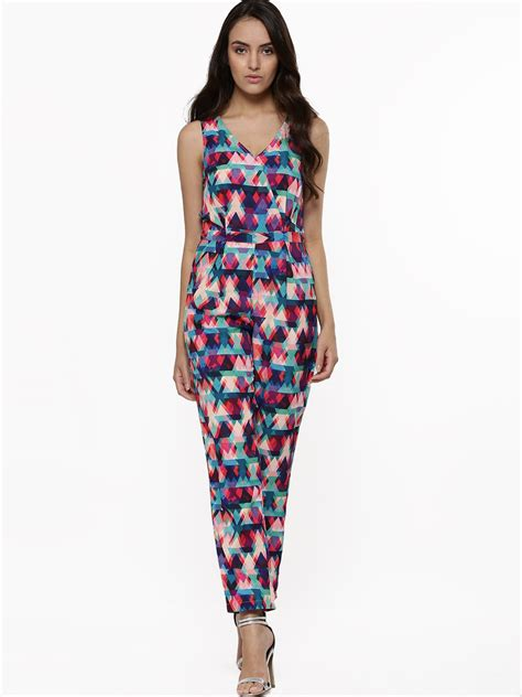printed jumpsuits buy vero moda printed jumpsuit for 39 s multi