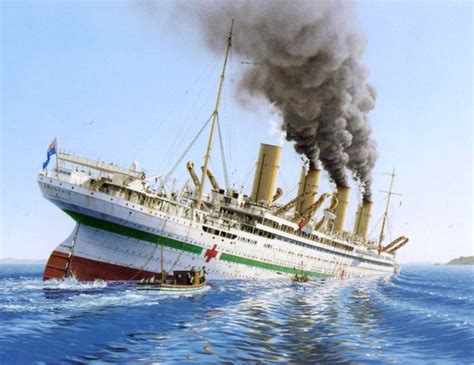 Sinking Of The Hmhs Britannic by Maritimequest Daily Event For November 21 2005 Hmhs