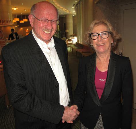 geneviève grad igor bogdanoff jonathan dorfan meets with french minister of high