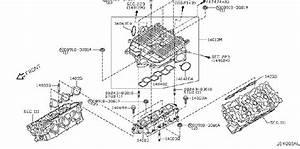 Infiniti G35 Engine Intake Manifold Gasket  Exhaust  Cover