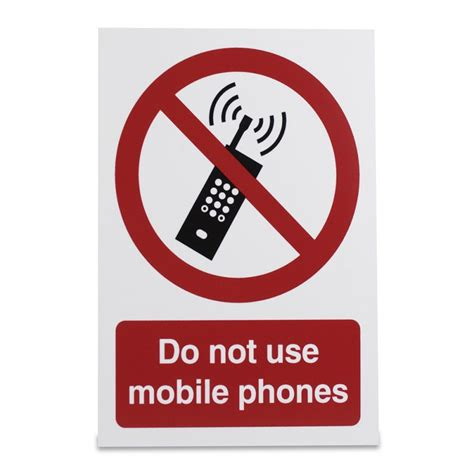 Do Not Use Mobile Phones Warning Sign Sports Supports