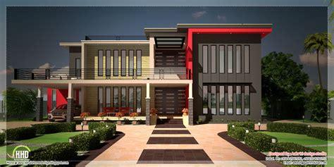 contemporary luxury villa floor plan kerala home design
