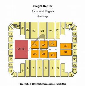 Vcu Siegel Center Seating Chart Stuart C Siegel Center Tickets And Stuart C Siegel