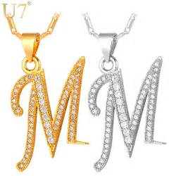 cheap name necklaces online get cheap initial m necklace aliexpress