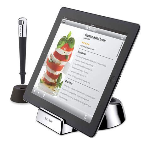 tablette cuisine cook belkin chef stand support tablette belkin sur ldlc com