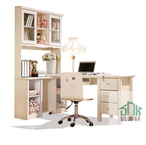 stylish children study desk ha a bookshelf design wooden