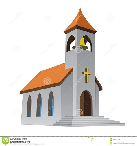 clipart chiesa rural isolated church for catholics with bell vector stock