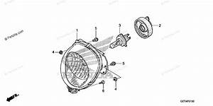 Honda Scooter 2009 Oem Parts Diagram For Headlight