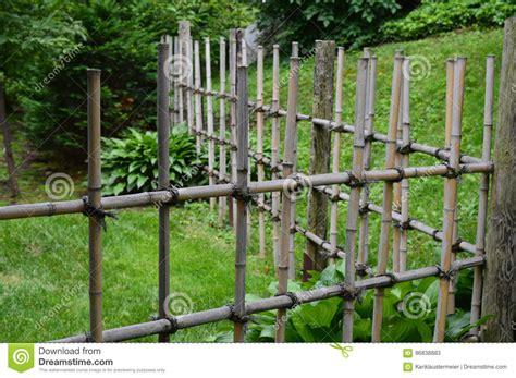 Japanischer Garten Zaun by Zaun In Einem Japanischen Garten Stockbild Bild