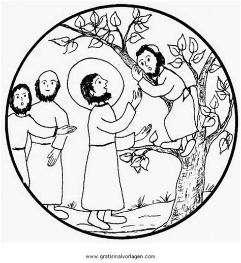 zachaus  gratis malvorlage  jesus religionen ausmalen