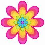 Flower Transparent Flowers Flores Clipart Imprimir Rainbow