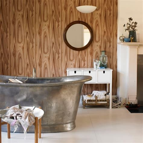 Wallpaper For Bathrooms Ideas by Wood Print Wallpaper Bathroom Wallpapers Housetohome Co Uk