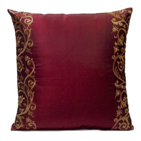 Burgundy Sofa Pillows by Burgundy Pillow Throw Pillow Cover Decorative Pillow Cover