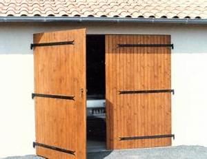 portes de garage bois pvc ou alu 2 vantaux de sothoferm With porte garage bois 2 vantaux