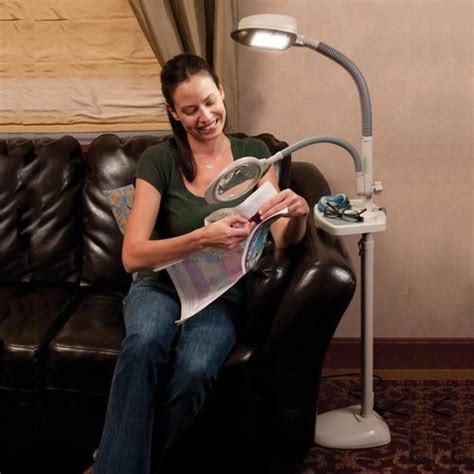 Verilux Floor L With Magnifier by Magnifier Accessory For Original And Easyflex Floor Ls