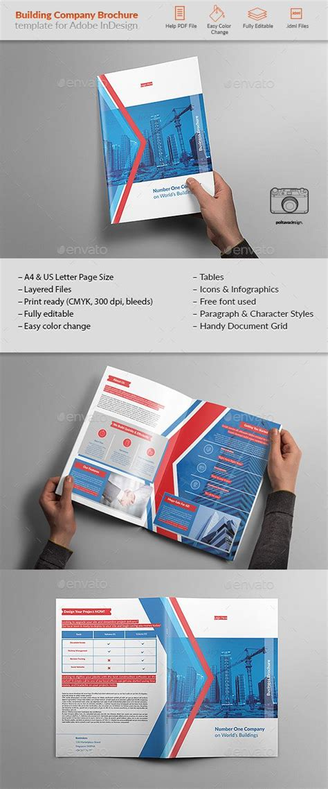 template plaquette indesign building company brochure template indesign indd