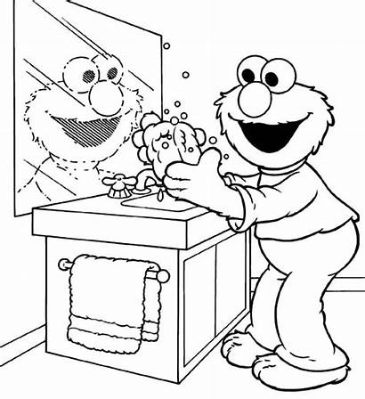 Washing Coloring Hand Pages Handwashing Germs Hands