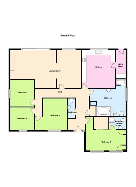 bungalow floor plan 4 bedroom bungalow floor plans uk thefloors co
