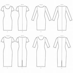 Misses Knit Bodycon Dresses Mccalls Sewing Pattern 7531