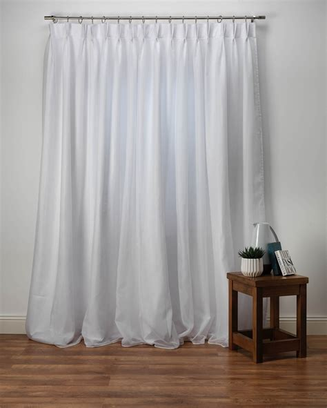 plain white lined voile curtain sapphire made to measure