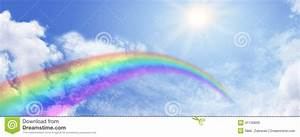 Rainbow And Blue Sky Website Banner Stock Illustration ...