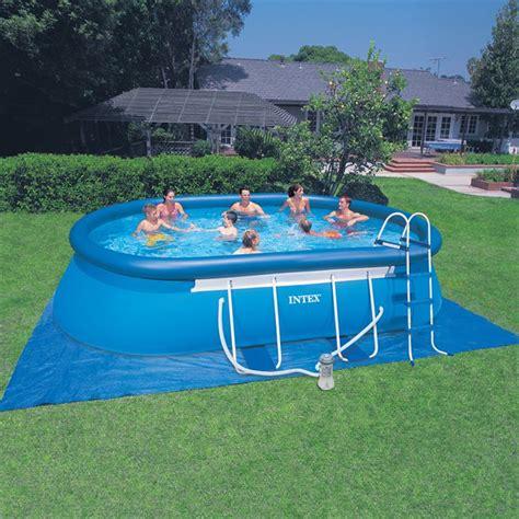 intex air piscine intex ellipse autostable 11 6m3 achat vente