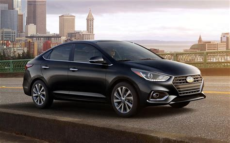 Download Wallpapers Hyundai Accent, 2018, Compact Sedan