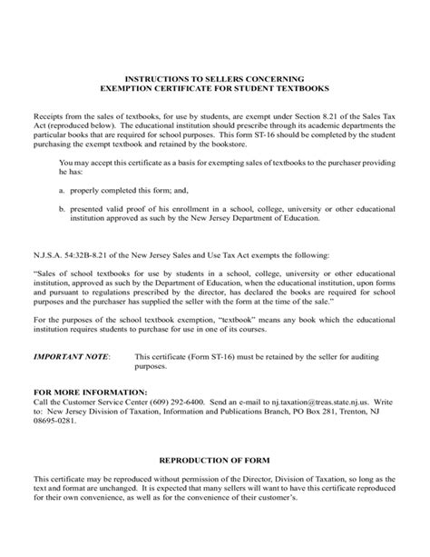 student tax exemption form new jersey free