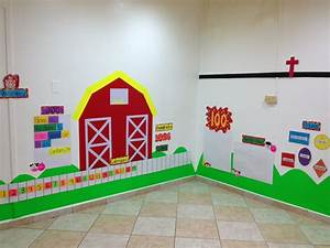 Farm theme decoration | Classroom decoration ideas ...