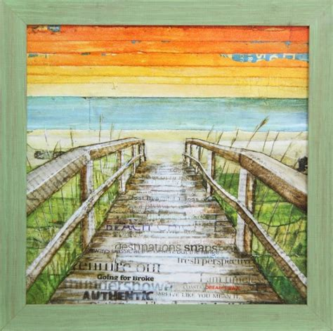 beach sunset   sea wall art coastal decor ideas