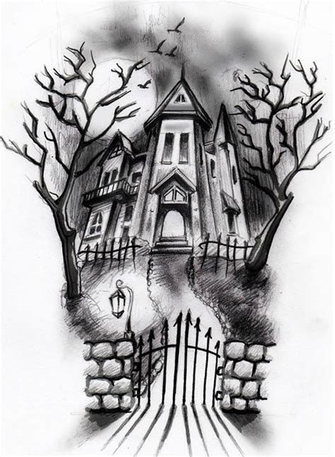 Best Haunted House Drawing Ideas And Images On Bing Find What
