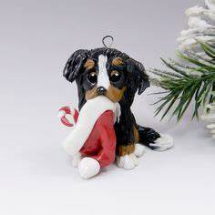 bernese mountain dog christmas ornaments