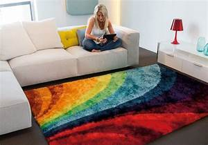 tapis lounge collection multi funky 4 90x160 With tapis design avec deal canapé