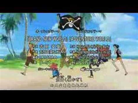 D51brand New World (one Piece Opening 6 @ Episode 264