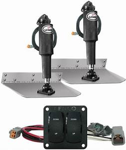 Lenco Complete Trim Tab Kit With Double Rocker Switch Kit