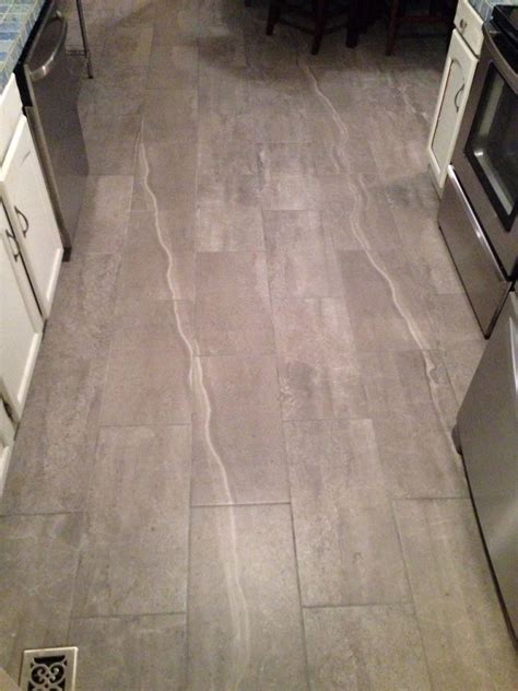 Skyros Gray Indoor/Outdoor Porcelain Tile in a kitchen