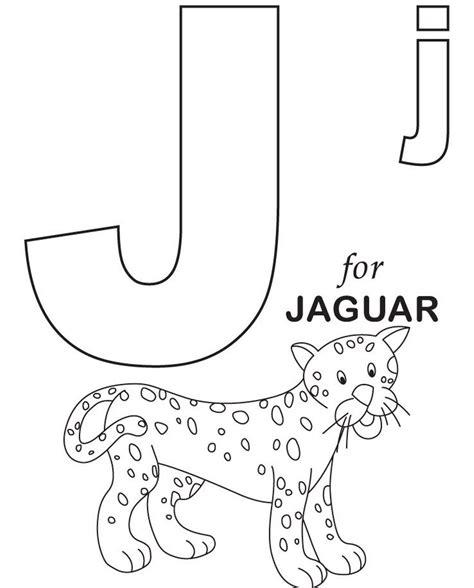 jaguar alphabet coloring page preschool crafts