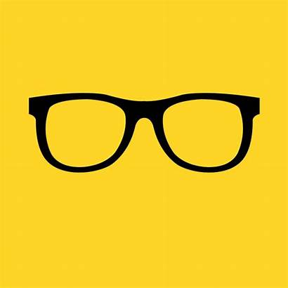 Glasses Vector Icon Illustration Blurry Vision Nerd