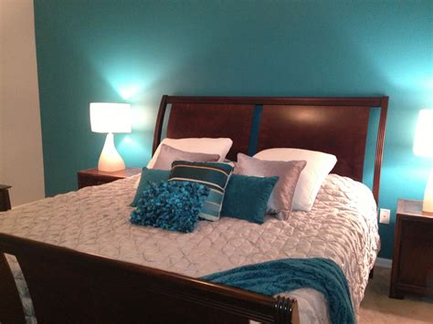 Bedroom Color Schemes With Teal by My Master Bedroom Teal And Grey My Rooms Teal