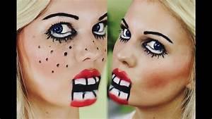 Halloween Make Up Puppe : einfaches schnelles halloween make up psycho puppe youtube ~ Frokenaadalensverden.com Haus und Dekorationen
